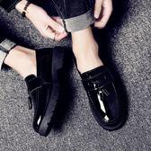 夏季英倫皮鞋韓版潮流男士休閒豆豆潮鞋百搭個性一腳蹬 GB5207『M&G大尺碼』