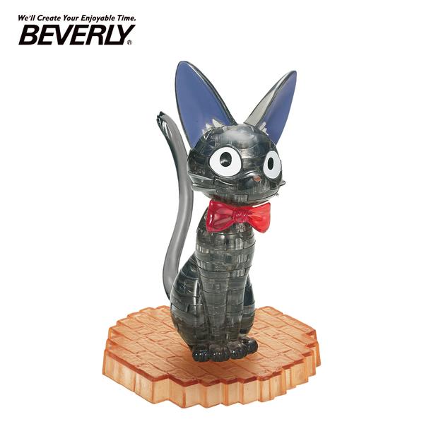 【日本正版】BEVERLY 黑貓吉吉 立體水晶拼圖 36片 3D拼圖 水晶拼圖 公仔 模型 魔女宅急便 - 488477