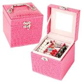 鱷魚紋內三層首飾盒 小飾品絨布飾品盒歐式絨布首飾盒《小師妹》jk185