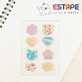 【ESTAPE】造型便利貼|甜蜜熊(120張/貼紙/memo/重覆黏貼)