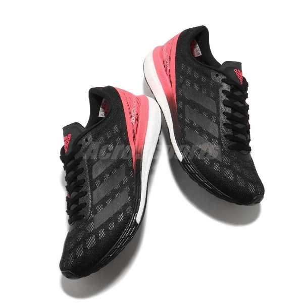 adidas 慢跑鞋 Adizero Boston 9 黑 粉紅 女鞋 愛迪達 Boost 反光設計 【ACS】 EG4656