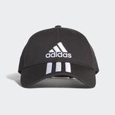 Adidas 6P 3S Cap Cotto三線 黑色 老帽(布魯克林)DU0196