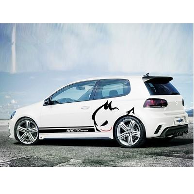 A0123 VW 北美惡免 車身貼 TOURAN GOLF JETTA POLO PASSANT TIGUAN LUPO