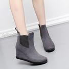 高跟雨鞋女新款春秋時尚雨鞋加棉女士短筒坡跟韓版雨靴防滑水鞋成人高跟 快速出貨