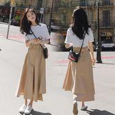 冷淡風洋裝中長款顯瘦學生sukol及踝長裙季少女裙潮  名購居家igo