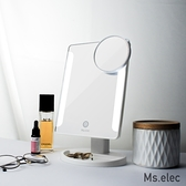 【Ms.elec米嬉樂】觸控柔光化妝鏡-白 LED化妝鏡 桌上鏡