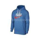 Nike 長袖T恤 NSW Heritage Hoodie 藍 白 男款 帽T 運動休閒 【ACS】 BV2934-484