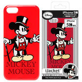 ★APP Studio★【日本iJacket】Disney迪士尼正式授權 iPhone5C PC硬質保護殻《紳士米奇》