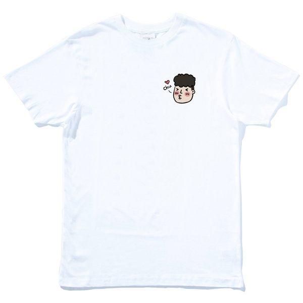 左胸 Chu 啾咪 男 女 情侶短袖T恤 白色 情侶裝 潮T 班服 情侶t 禮物 短T 萌 韓 t 可愛