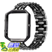 [107美國直購] 錶帶 V-Moro Fitbit Blaze Bands, Stainless Steel Accessories Metal Chain Replacement