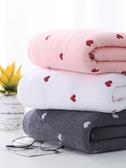 萊朵桃心浴巾純棉成人家用男女柔軟吸水速干大號毛巾嬰兒可愛裹巾 瑪麗蘇