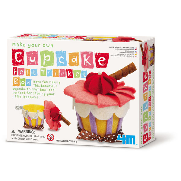 【4M】04634 美勞創意-俏麗蛋糕首飾盒 Make Your Own Cupcake Felt Trinket Box