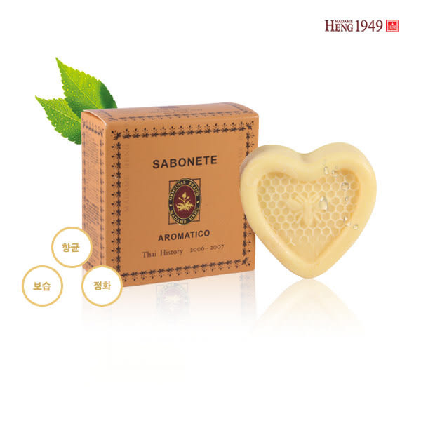 泰國 興太太 Madame Heng 百合/玫瑰/荷荷芭茶樹 愛心造型精油香皂 125g【PQ 美妝】