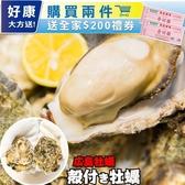 第二件送禮券【海肉管家-全省免運】活凍日本廣島帶殼牡蠣X10kg(約110-120顆)