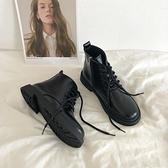 低幫馬丁靴女英倫風小短靴子2020年新款ins潮冬季6孔平底加絨系帶