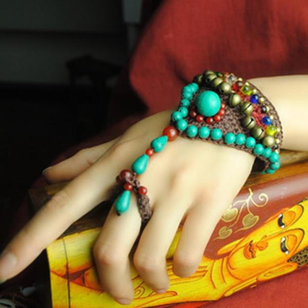 手飾環 沙瓦娜民族風仿琉璃-月兒的綺麗莊園