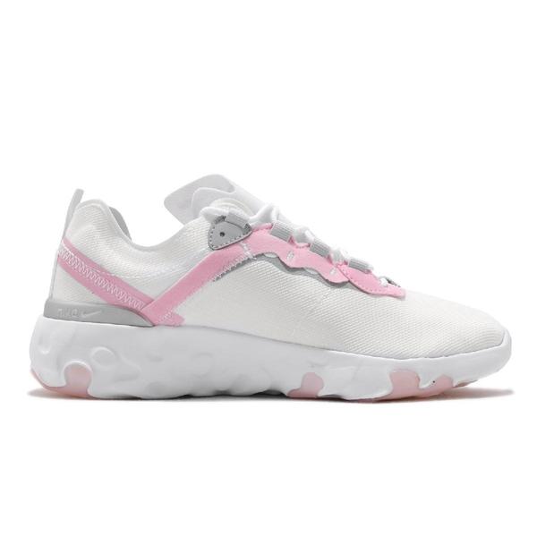 【六折特賣】Nike 休閒鞋 Renew React Element 55 GS 白 粉紅 女鞋 大童鞋 緩震回彈 運動鞋【ACS】 CK4081-102