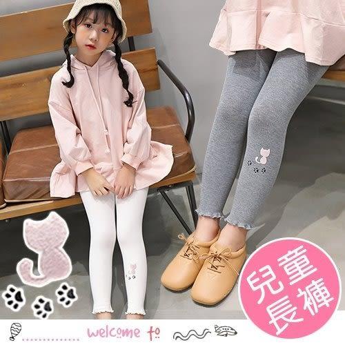 秋季韓版女童背影貓咪打底褲 長褲
