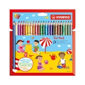 STABILO 德國 思筆樂 繽紛樂三角筆身油性色鉛筆 24色組 / 盒 203/2-24