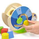 木製玩具 小蝸牛形狀配對幾何組...