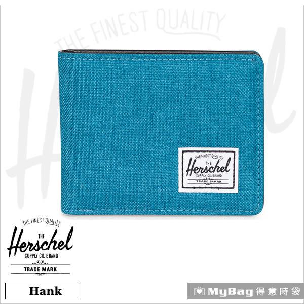 Herschel 皮夾 / 短夾 Hank-1260 湖水藍 經典內斂多卡短夾 MyBag得意時袋