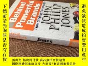 二手書博民逛書店Behind罕見powerful brands: From st
