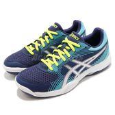 Asics 排羽球鞋 Gel-Task 藍 銀 基本款 女鞋 運動鞋【PUMP306】 B754Y400