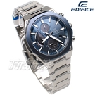 EDIFICE CASIO卡西歐 EFS-S570DB-2A 輕薄 三眼多功能計時碼錶 八角扁平錶圈 男錶 EFS-S570DB-2AUDF