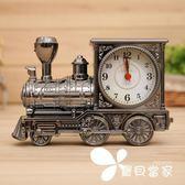 懷舊蒸汽機火車頭學生兒童床頭鬧鐘