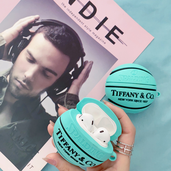 Airpods Pro 專用 1/2代 台灣發貨 [ Tiffany 籃球 ] 藍芽耳機保護套 蘋果無線耳機保護