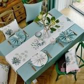 美式網紅餐桌布茶几桌布布藝棉麻小清新長方形現代簡約桌旗桌墊