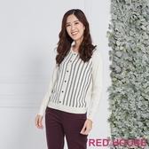 【RED HOUSE 蕾赫斯】條紋假兩件針織衫(共2色)