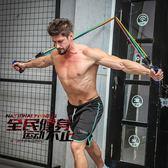 好評推薦拉力繩男士力量訓練阻力帶練臂力練腹肌乳膠彈力繩健身拉力器套裝