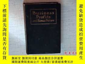 二手書博民逛書店Business罕見Profits and Human Natu
