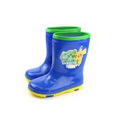 寶可夢 神奇寶貝 皮卡丘 雨鞋 雨靴 防水 童鞋 藍色 中童 PA7334 no719