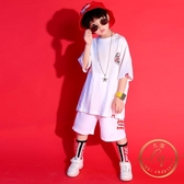 兒童套裝 兒童街舞套裝男童嘻哈夏季短袖潮韓版hiphop衣服男孩街舞服裝少兒