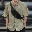 斜背包男胸包潮牌男士包包側背包帆布休閒背包學生輕便斜背胸前包 智慧 618狂歡