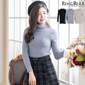 高領針織--暖氛圍繞收腰顯瘦保暖親膚高彈力高領針織毛衣(黑.灰.可可XL-3L)-X243眼圈熊中大尺碼