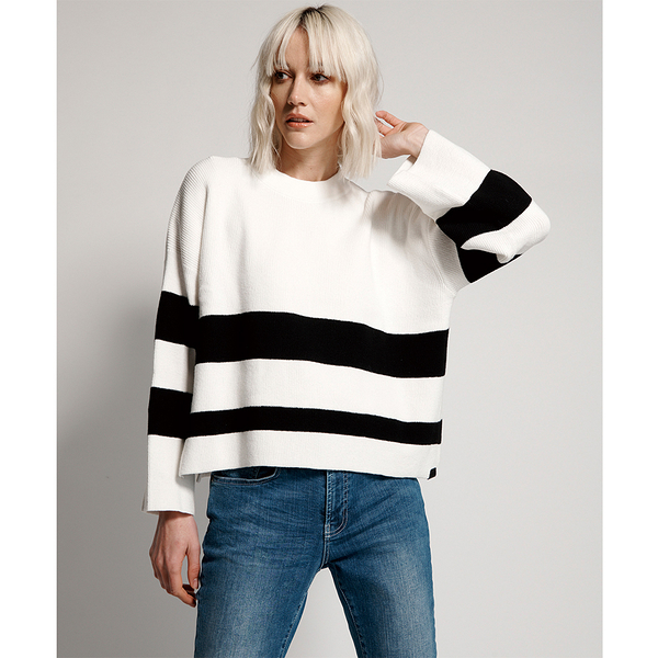 ONETEASPOON  WW  MONO BAILEY ZIP KNIT SWEATER  毛衣-女(白&黑)