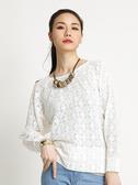 BOBSON 女款蕾絲網布長袖上衣(32083-81)