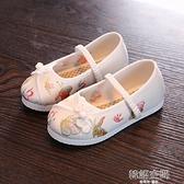 漢服女童繡花鞋老北京兒童手工布鞋民族風古風學生鞋舞蹈刺繡童鞋