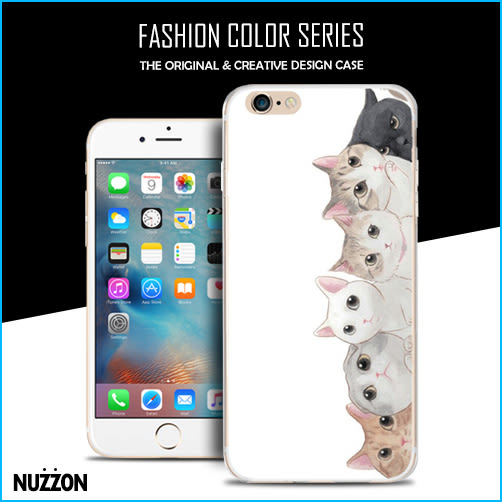 iPhone 6s 6 5s 貓咪系列 手機殼 可愛動物 翻玩 日韓 彩繪塗鴉 TPU 保護套 防水 透明軟殼【02】