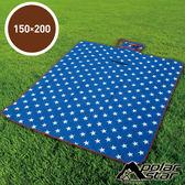 【PolarStar】多功能防潮睡墊/野餐墊/休閒墊/遊戲墊 - 防水PE鋁膜.可機洗 P17709 『璀璨之星』150X200cm
