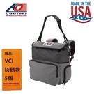 【AO COOLERS】酷冷軟式輕量保冷後背包-18罐型-炭灰 兩端夾扣式設計