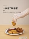廚房手套日本一次性手套tpe食品級專用廚房烘焙加厚耐用非PVC乳膠橡膠丁腈 晶彩