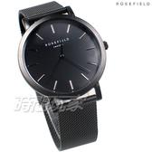ROSEFIELD 歐風美學 時尚簡約 圓形 米蘭帶 不銹鋼 女錶 防水手錶 IP黑電鍍 MBB-M43
