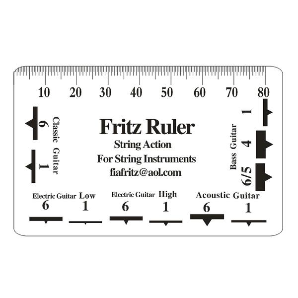 ☆唐尼樂器︵☆ Fritz Ruler 吉他尺規 弦距 測量尺 測量卡 調整弦距 專用 吉他 電吉他 貝斯 Bass