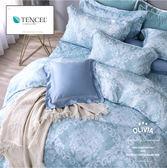 加大雙人床包枕套兩件組【不含被套】【 DR1060 Miranda】天絲™萊賽爾 古典宮廷風 台灣製 OLIVIA
