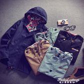 韓版男士春秋新款加厚夾克衫青年大碼男裝連帽外套學生jacket