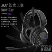 電競耳機 游戲耳機頭戴式吃雞帶麥7.1電競USB耳麥  『優尚良品』